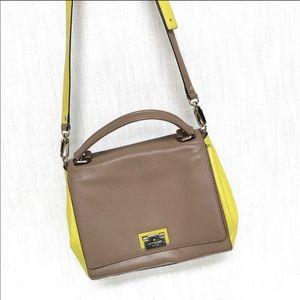 Kate Spade Designer Bag with Yellow Highlights